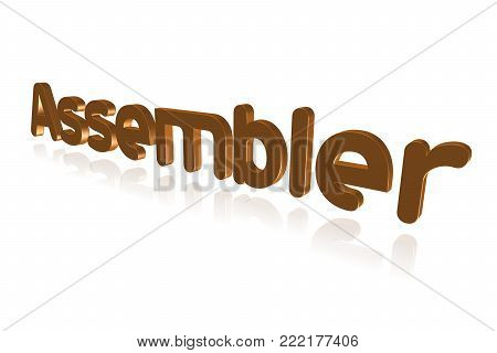 Programming Term - Assembler - Convert Assembly Code Programs To Machine Code - 3d Image