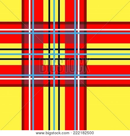 Scottish cage, yellow celtic. Scottish yellow checkered background. Scottish pattern. Vector illustration