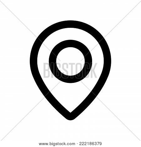 Location icon isolated on white background. Location icon modern symbol for graphic and web design. Location icon simple sign for logo, web, app, UI. Location icon flat vector illustration, EPS10.
