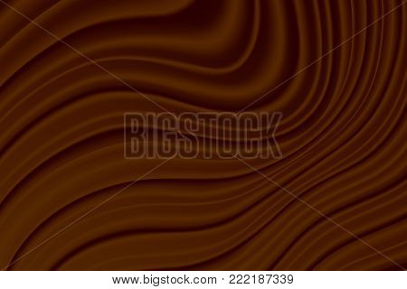 Molten chocolate. Chocolate background, backdrop, template banner Vector illustration