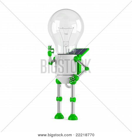 Solar Powered Light Bulb Robot - Ok