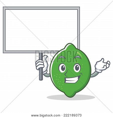 Bring board lime character cartoon style vector illustration
