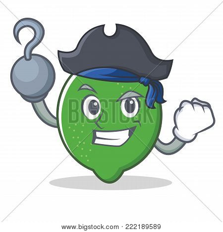 Pirate lime character cartoon style vector illustration