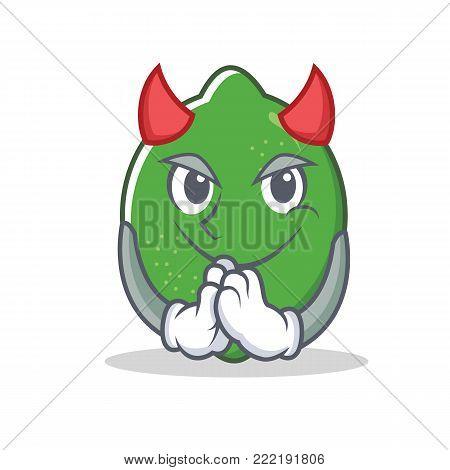 Devil lime mascot cartoon style vector illustration