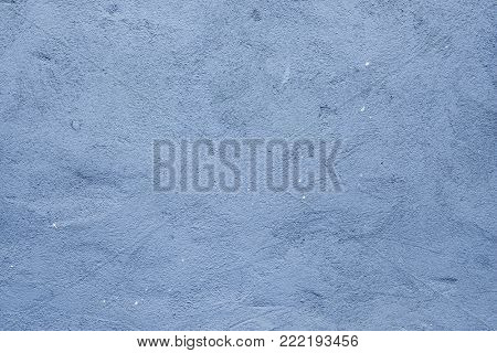 Blue plaster wall background texture