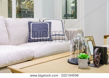 Living room interior - Classic Vintage Style Furniture Set in a living room. Interior of living room in house.