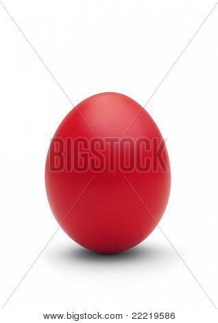 red easter-egg on white background