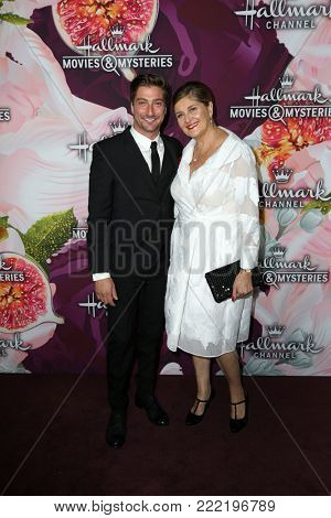 LOS ANGELES - JAN 13:  Daniel Lissing, Inge Christophers at the Hallmark Channel and Hallmark Movies and Mysteries Winter 2018 TCA Event at the Tournament House on January 13, 2018 in Pasadena, CA