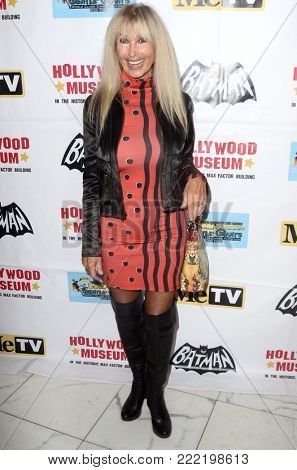 LOS ANGELES - JAN 10:  Donna Loren at the Batman '66 Retrospective and Batman Exhibit Opening Night at the Hollywood Museum on January 10, 2018 in Los Angeles, CA