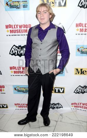 LOS ANGELES - JAN 10:  Connor Dean at the Batman '66 Retrospective and Batman Exhibit Opening Night at the Hollywood Museum on January 10, 2018 in Los Angeles, CA