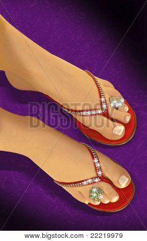 legs with diamonds