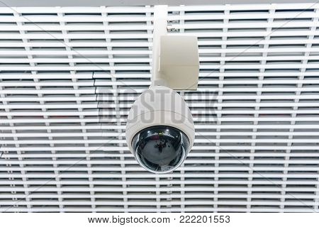 Closed-circuit television, Security CCTV camera or surveillance system in office building ,use video transmit a signal to a specific place