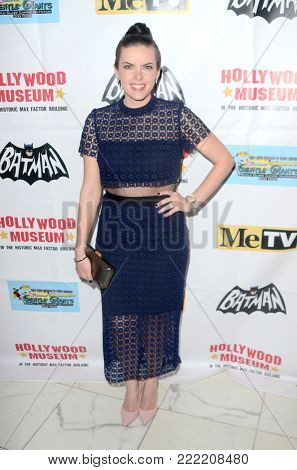 LOS ANGELES - JAN 10:  Emily Sandifer at the Batman '66 Retrospective and Batman Exhibit Opening Night at the Hollywood Museum on January 10, 2018 in Los Angeles, CA