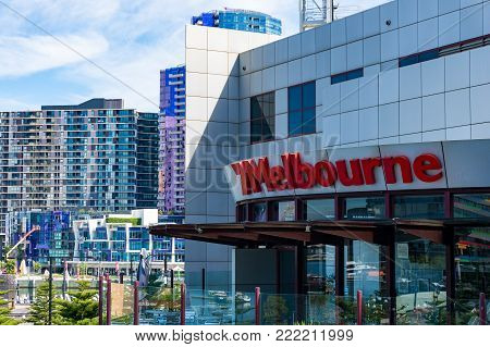 Melbourne, Australia - December 7, 2016: Channel 7 Melbourne television station in Docklands