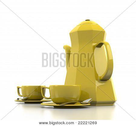 Yellow Coffee Set