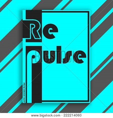 Repulse interior poster. Modern cover design for magazine, printing products, flyer, presentation, brochure or booklet. Vector illustration