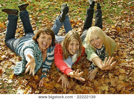 """three pretty girls having fun. keyword for this collection is """"autumn77"""""""