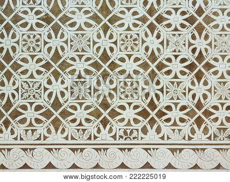 Sgraffito - Renaissance decoration of stucco of walls by scraping