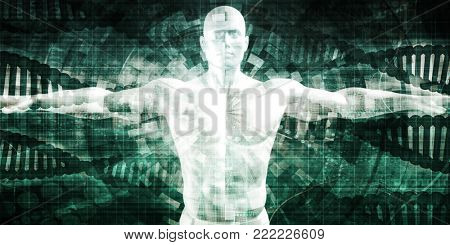 Advanced Technology with Futuristic Abstract Background Art 3D Render
