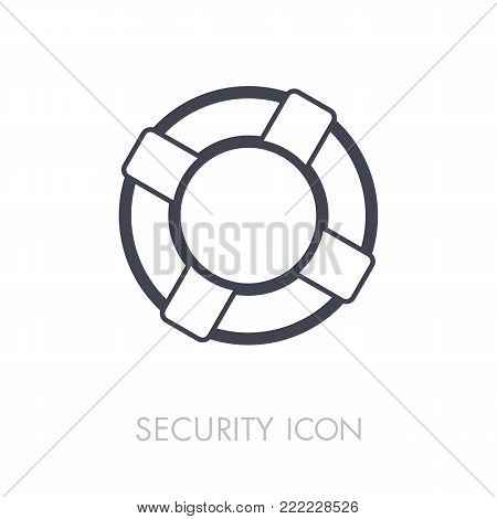 Life saver outline icon. Security sign. Graph symbol for your web site design, logo, app, UI. Vector illustration, EPS10.