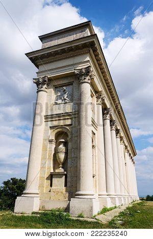 Colonnade Reistna, romantic classicist gloriette near Valtice, Moravia, Czech Republic