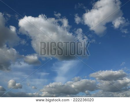 Clouds on the sky - floating clouds