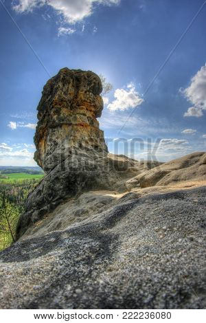 BIzarre rock formation in Kokorin area, Czech Republic