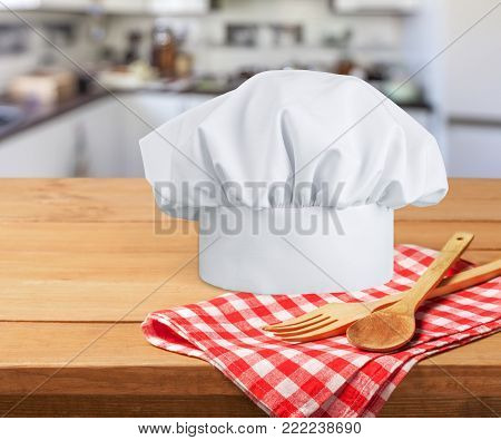 White hat chef chef hat white background color image professional occupation