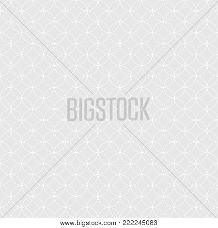 Vector circles lattice linear design for background. Seamless round Geometric pattern.