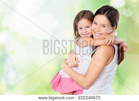 Daughter mother hugging
