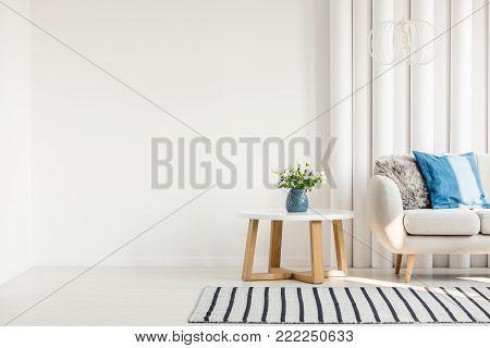 Metal Table Next To Sofa