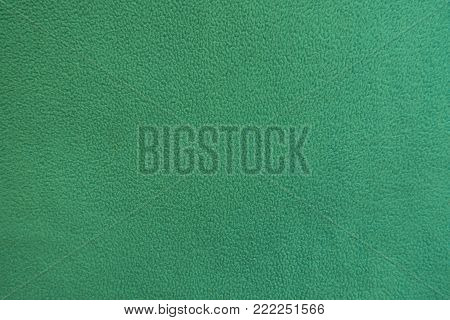 Green thick polar fleece fabric from above