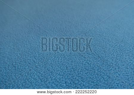 Macro of sky blue polar fleece fabric