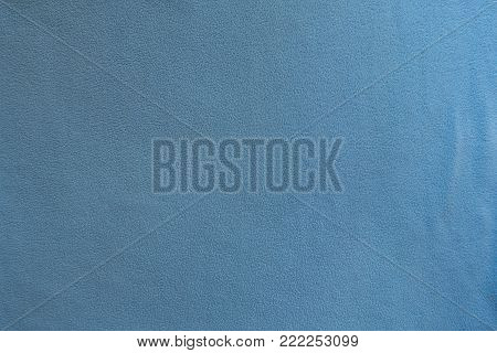 Surface of sky blue polar fleece fabric