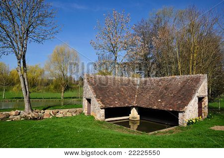 Wash house at Bourg le Roi in France