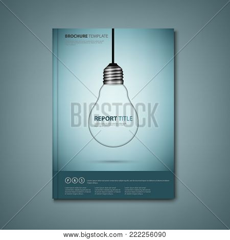 Brochures book or flyer with a design hanging bulb vector eps 10