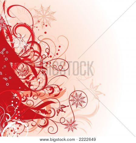 Christmas Tree, Winter Background