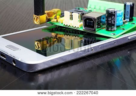 Mobile phone and GSM communicator. Mobile phone and communicator for GSM security of objects.