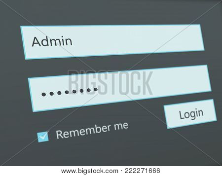 screen shot of login page - admin panel
