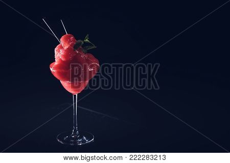 Classic Daiquiri On The Dark Background.  Luxury Craft Drink Concept