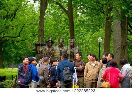WASHINGTON DC - May 10, 2016: Vietnam Veterans Memorial, in Washington DC,