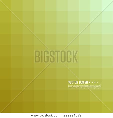 Abstract background with rhythmic overlapping squares. Transition and gradation of color. Vector blend gradient for illustrations, covers and flyer. Color yellow, gold.