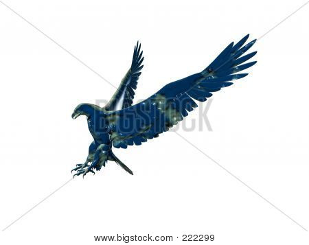 isolated blue eagle poster