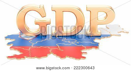 gross domestic product GDP of Slovenia concept, 3D rendering isolated on white background