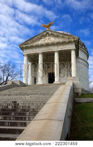 The Illinois State Memorial in Vicksburg National Military Park, Vicksburg, Mississippi honors those who served during the American Civil War.
