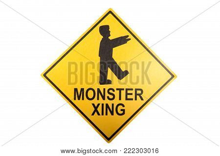 A Halloween sign against a white background