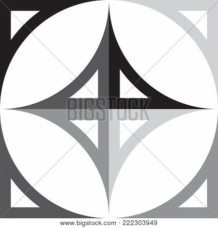 Cardinal Points Indicator black to gray elements