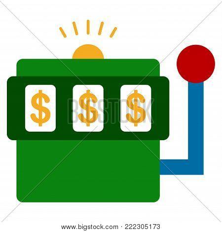 Casino Bandit vector icon. Style is flat graphic symbol.