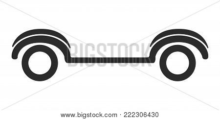 Golf cart icon on a white background, Vector illustration