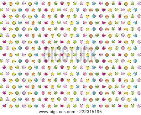 Primary color mini dots - background pattern for a variety of uses. EPS file has global colors for easy color changes.